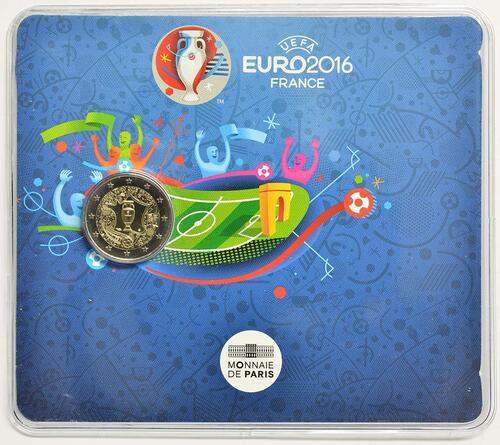 Lieferumfang :Frankreich : 2 Euro Fußball EM 2016  2016 Stgl.