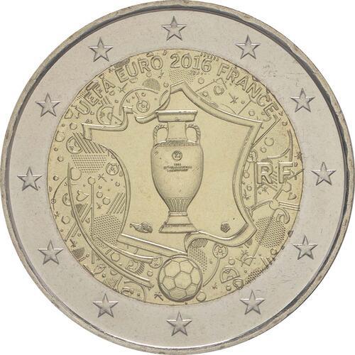 Rückseite:Frankreich : 2 Euro Fußball EM 2016  2016 bfr