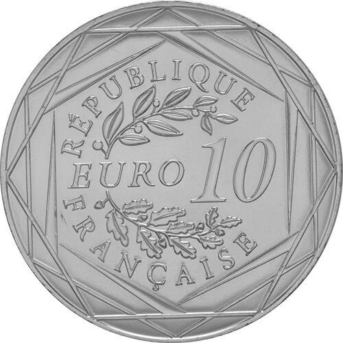 Rückseite:Frankreich : 10 Euro Fußball EM 2016  2016 bfr