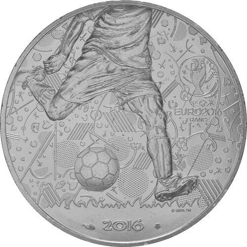 Vorderseite:Frankreich : 10 Euro Fußball EM 2016  2016 bfr
