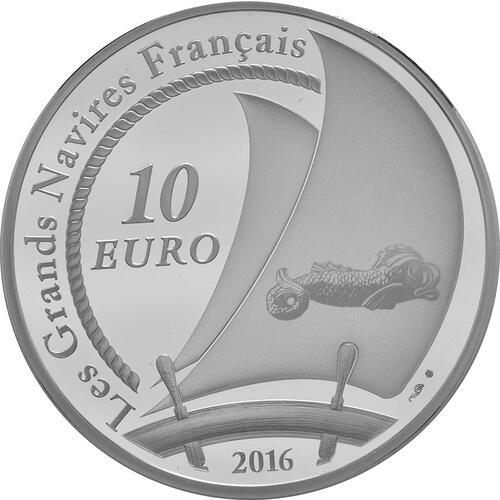 Rückseite:Frankreich : 10 Euro Bélem  2016 PP