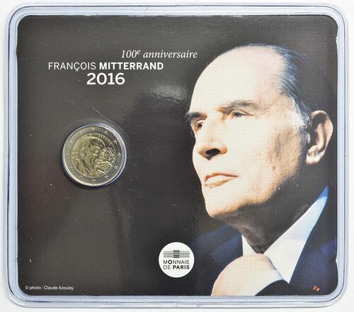 Lieferumfang :Frankreich : 2 Euro Mitterrand  2016 Stgl.