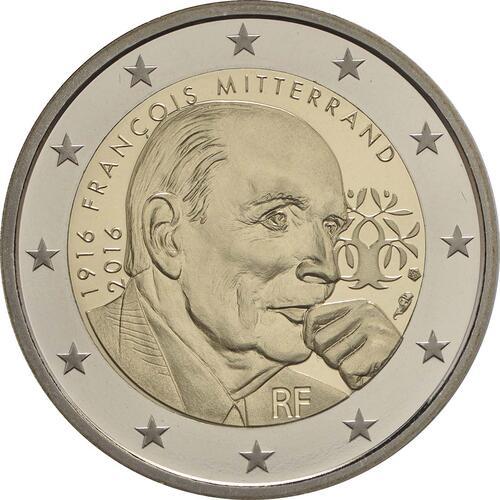Rückseite :Frankreich : 2 Euro Mitterrand  2016 PP