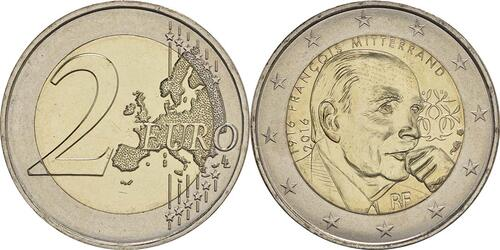 Lieferumfang :Frankreich : 2 Euro Mitterrand  2016 bfr