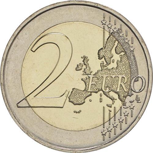 Vorderseite :Frankreich : 2 Euro Mitterrand  2016 bfr