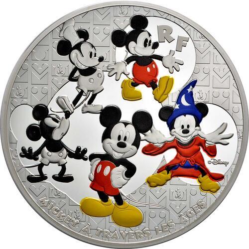 Vorderseite:Frankreich : 50 Euro Micky Maus im Wandel der Zeit  2016 PP