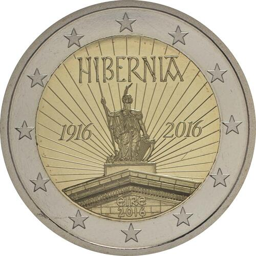 Rückseite :Irland : 2 Euro 100 Jahre Osteraufstand 1916  2016 PP