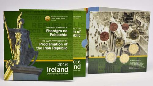 Lieferumfang:Irland : 5,88 Euro KMS Irland inkl. 2 Euro Gedenkmünze Osteraufstand  2016 bfr