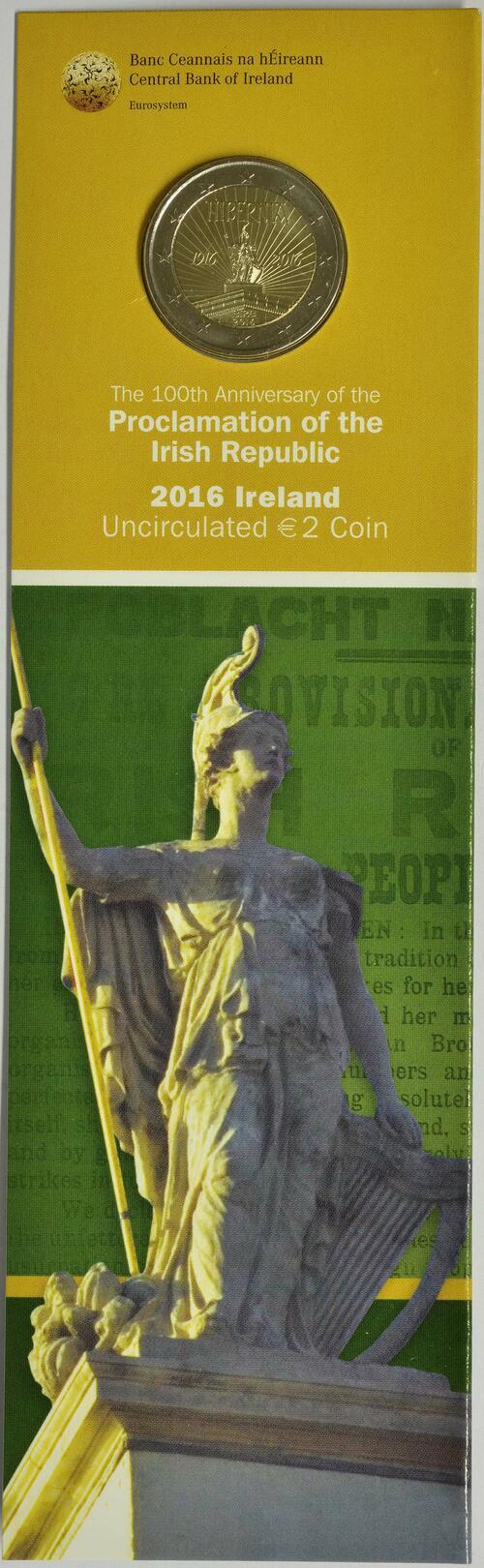 Lieferumfang :Irland : 2 Euro 100 Jahre Osteraufstand 1916  2016 bfr