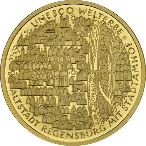 Vorderseite:Deutschland : 100 Euro Altstadt Regensburg mit Stadtamhof  2016 Stgl.