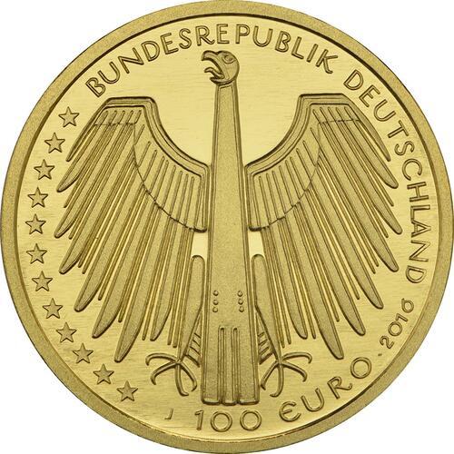 Rückseite :Deutschland : 100 Euro Altstadt Regensburg mit Stadtamhof Komplettsatz A,D,F,G,J  2016 Stgl.