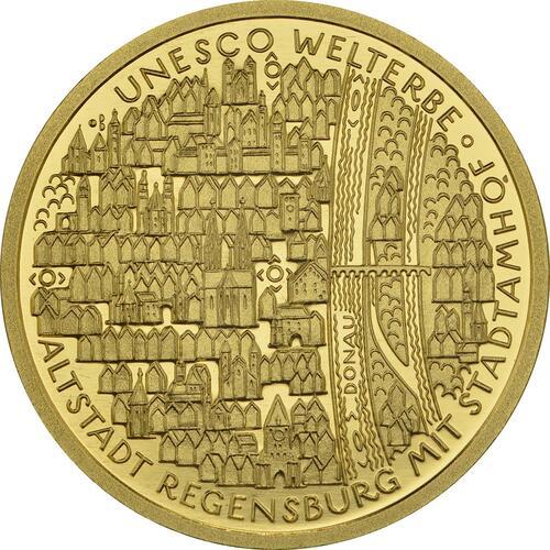 Vorderseite:Deutschland : 100 Euro Altstadt Regensburg mit Stadtamhof Komplettsatz A,D,F,G,J  2016 Stgl.
