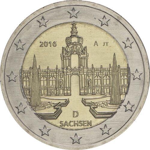 Rückseite :Deutschland : 2 Euro Sachsen - Dresdner Zwinger  2016 bfr