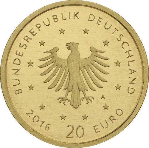 Rückseite:Deutschland : 20 Euro Nachtigall  2016 Stgl.