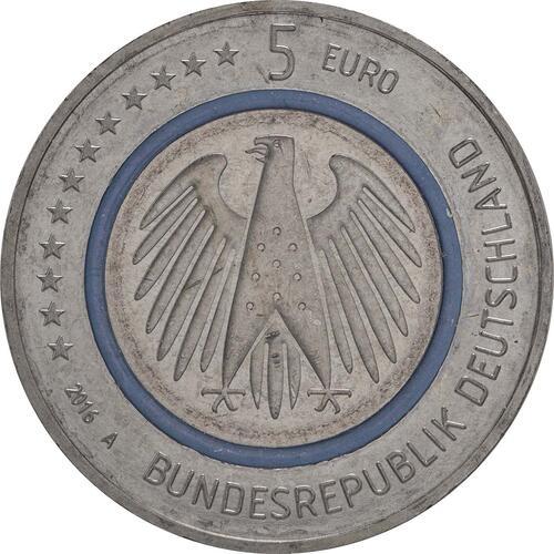 Rückseite:Deutschland : 5 Euro Planet Erde  2016 bfr