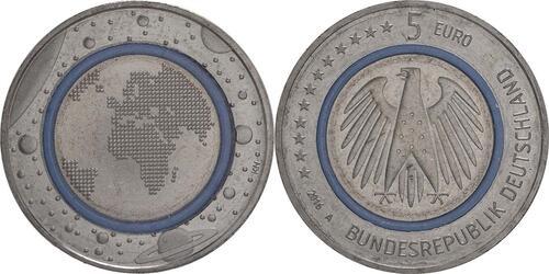 Lieferumfang:Deutschland : 5 Euro Planet Erde  2016 bfr