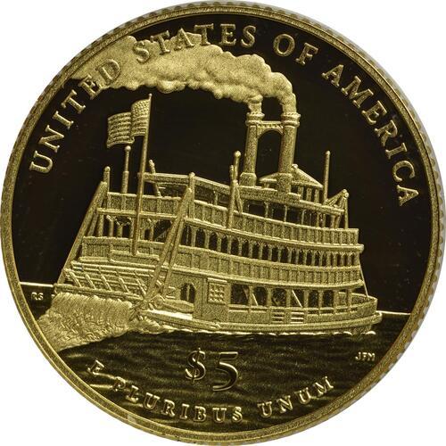 Rückseite :USA : 5 Dollar Mark Twain  2016 PP
