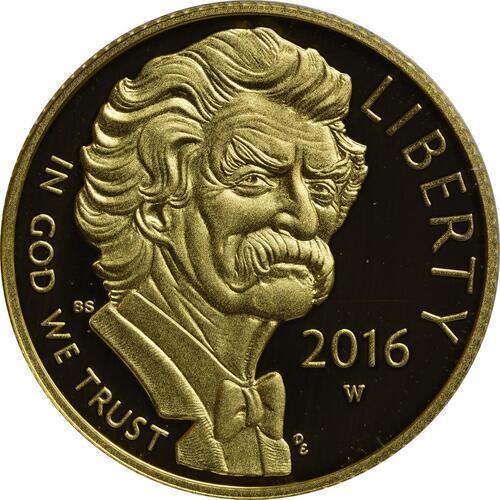 Vorderseite :USA : 5 Dollar Mark Twain  2016 PP