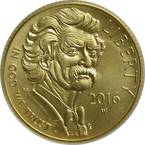 Vorderseite:USA : 5 Dollar Mark Twain  2016 Stgl.