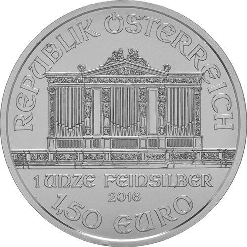Rückseite:Österreich : 1,5 Euro Philharmoniker  2016 Stgl.