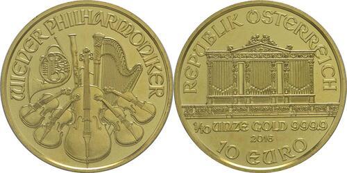 Lieferumfang:Österreich : 10 Euro Philharmoniker  2016 Stgl.