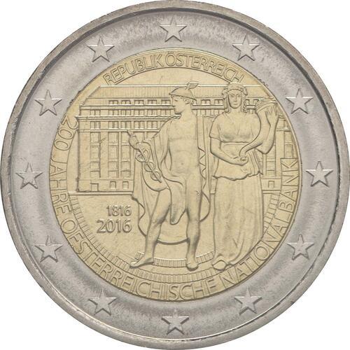 Rückseite:Österreich : 2 Euro 200 Jahre Oesterreichische Nationalbank  2016 bfr