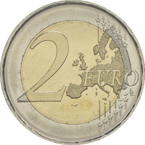 Vorderseite:Spanien : 2 Euro Altstadt und Aquädukt von Segovia  2016 bfr