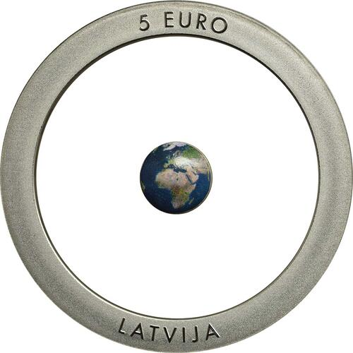 Rückseite:Lettland : 5 Euro Erde  2016 PP