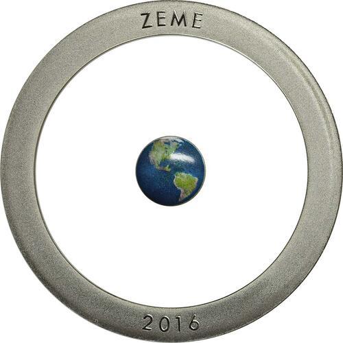 Vorderseite:Lettland : 5 Euro Erde  2016 PP