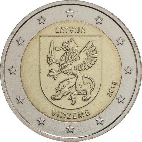 Rückseite:Lettland : 2 Euro Vidzeme  2016 bfr