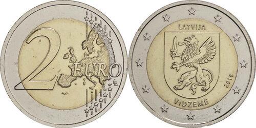 Lieferumfang:Lettland : 2 Euro Vidzeme  2016 bfr