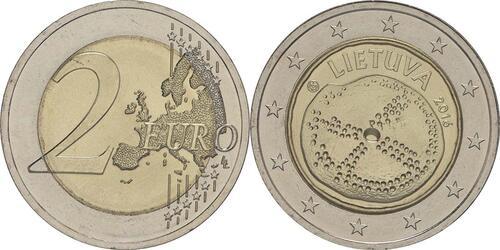 Lieferumfang :Litauen : 2 Euro Baltische Kultur  2016 bfr