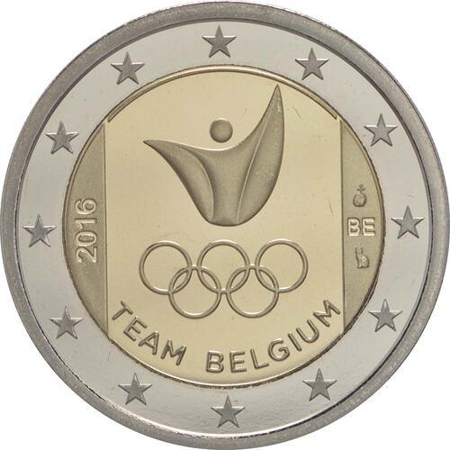 Rückseite:Belgien : 2 Euro Olympische Sommerspiele 2016 in Rio de Janeiro  2016 PP