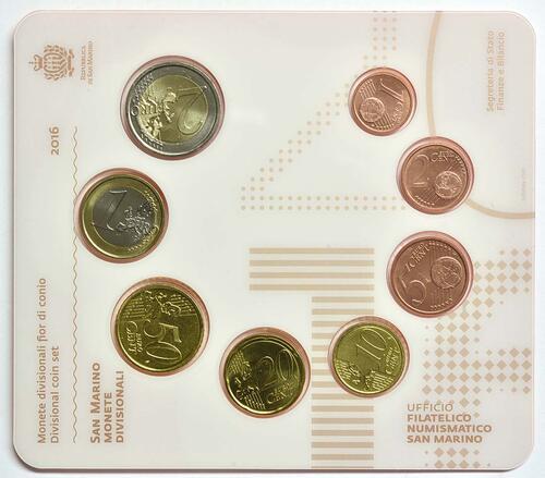 Rückseite:San Marino : 3,88 Euro KMS San Marino  2016 Stgl.