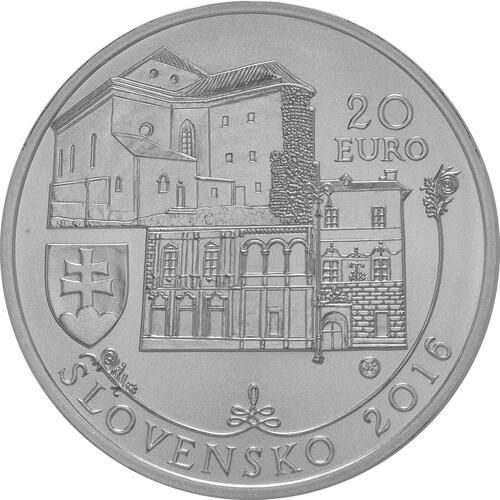 Rückseite:Slowakei : 20 Euro Historisches Denkmalschutzgebiet Banská Bystrica  2016 Stgl.