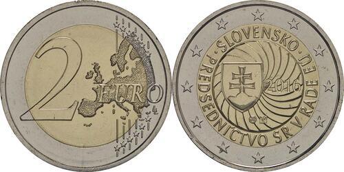 Lieferumfang :Slowakei : 2 Euro Erste EU-Präsidentschaft der Slowakei  2016 bfr