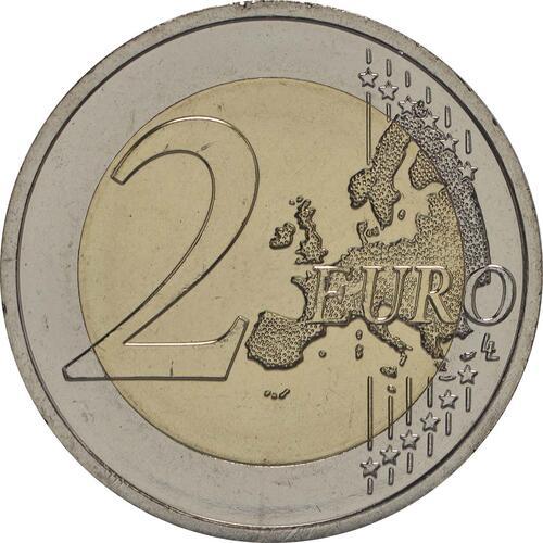 Vorderseite :Slowakei : 2 Euro Erste EU-Präsidentschaft der Slowakei  2016 bfr