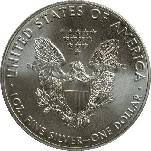 Rückseite :USA : 1 Dollar Silber Eagle  2016 Stgl.
