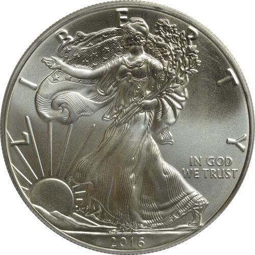Vorderseite :USA : 1 Dollar Silber Eagle  2016 Stgl.