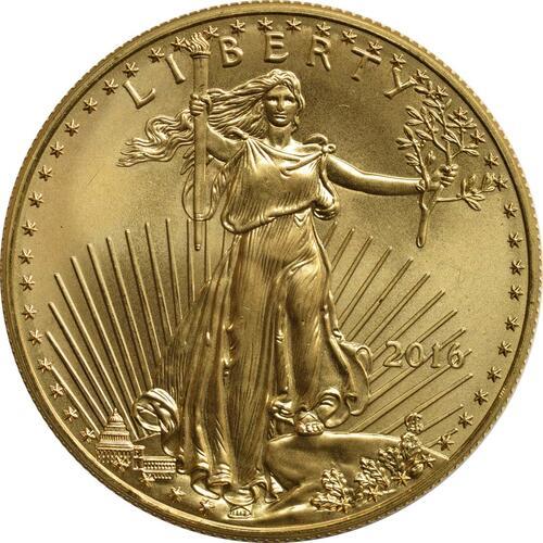 Vorderseite :USA : 50 Dollar Eagle  2016 Stgl.