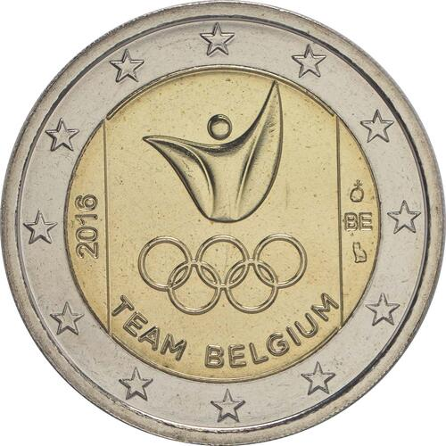 Rückseite :Belgien : 2 Euro Olympische Sommerspiele 2016 in Rio de Janeiro  2016 bfr