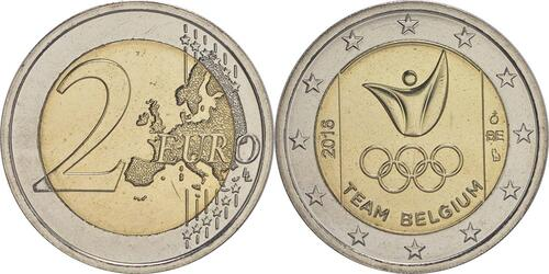 Lieferumfang :Belgien : 2 Euro Olympische Sommerspiele 2016 in Rio de Janeiro  2016 bfr
