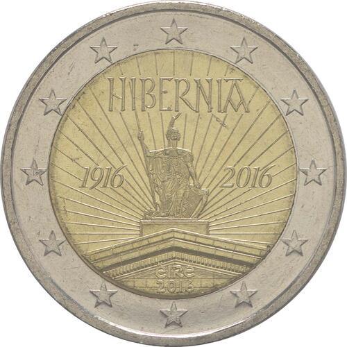 Rückseite :Irland : 2 Euro 100 Jahre Osteraufstand 1916  2016 bfr
