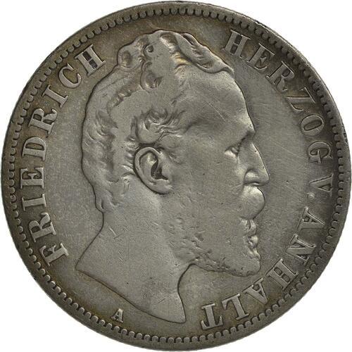 Vorderseite:Deutschland : 2 Mark Friedrich I.  1876 s/ss.