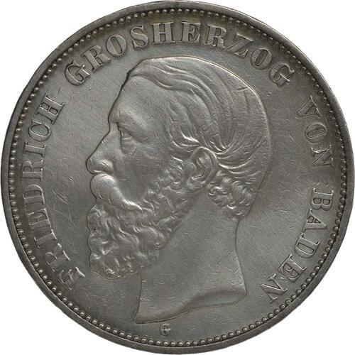 Vorderseite :Deutschland : 5 Mark Friedrich I. winz. Rs., geputzt, -seltenes Jahr- 1902 s/ss.