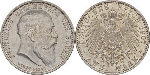 Lieferumfang:Deutschland : 2 Mark Friedrich I. -fein- 1907 Stgl.