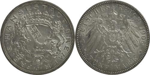Lieferumfang:Deutschland : 5 Mark   1906 vz/Stgl.