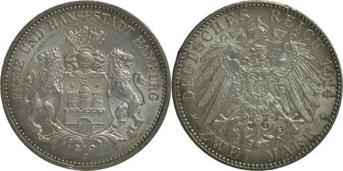 Lieferumfang:Deutschland : 2 Mark   1914 vz/Stgl.