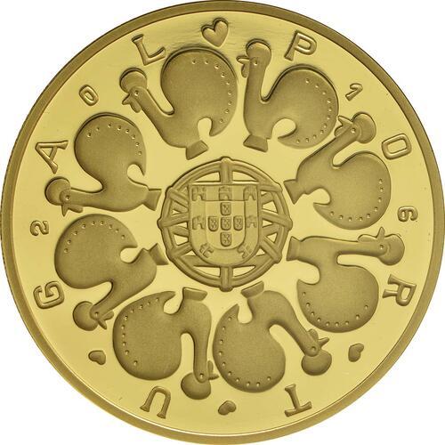 Rückseite:Portugal : 2,5 Euro Barcelos Keramik  2016 PP