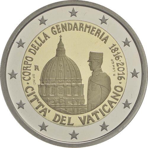 Rückseite:Vatikan : 2 Euro 200 Jahre Vatikanisches Gendarmeriekorps  2016 PP
